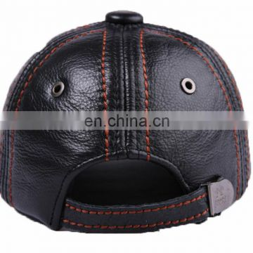 Man Cap Gorras Fishing Hat Outdoor Camping Hiking Baseball Genuine Leather cap