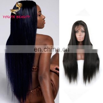 Youth Beauty Hair 2017 Best saling Indian virgin human silky straight wave full lace wig with baby hair 8A grade hair