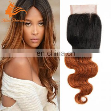 Brazilian Body Wave Lace Front Closure 1B 30 Ombre Cheap Lace Closure Virgin Human Hair Bangs Lace Closure