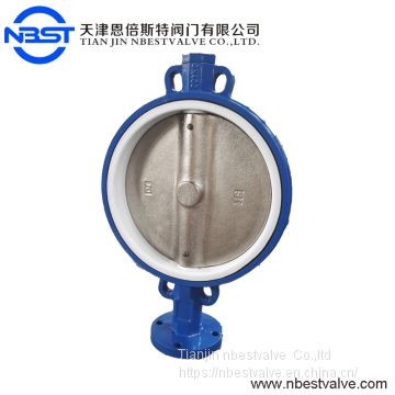 Low Pressure Cast Iron Wafer Type Butterfly Valve Universal Flange D071F-10Q