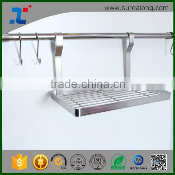 Stainless Steel S Hooks Heavy Duty Hanging Rail Pot Pans Hanger Towel Bar Brushed Nickel Bathroom accessory