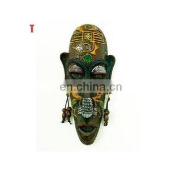 Antique Handmade Wooden Decorative Masks in African Design