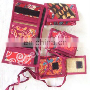 jute fabric wallet / jute mobile bag/ jute card holder