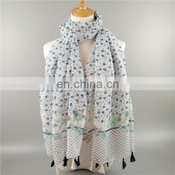 Viscose printed Shawl with fringes