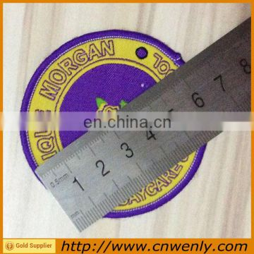 Uniform Emblems fabric Garment Woven Badge with Custom Logo