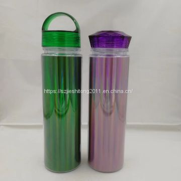 Cold drink transparent plastic water bottle BPA free