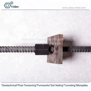 High tension Fully thread steel bar for Soil nailing or soil anchor