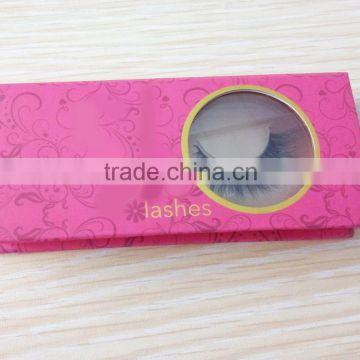 1fc8dc7dce7 OEM made custom logo 3d mink lashes packaging box / false eyelashes box  with clear PVC ...