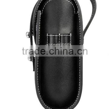 Golf ball bag,leather golf ball bags,newest small bowing leather golf ball bag