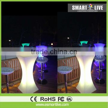 Rechargeable LED Cocktail Table for party hall decoration LED Bar Table for event/party/wedding/nightclub furniture