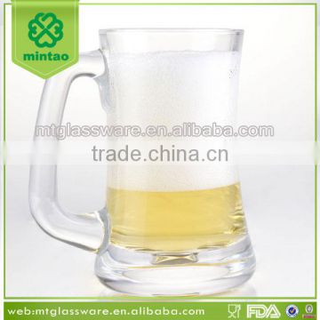 Clear 1.5 liter glass beer mug