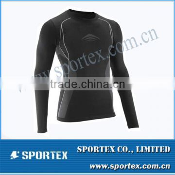 new design seamless compression top for men, mens seamless compression wear, seamless tech compression wear