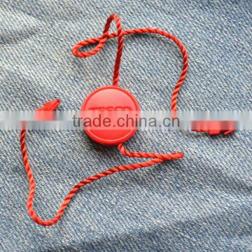 Fashion TESCO clothing string tag different color logo design for option customers' design is welcomed