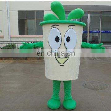 Factory direct sale customized coffee cup mascot costume for adult