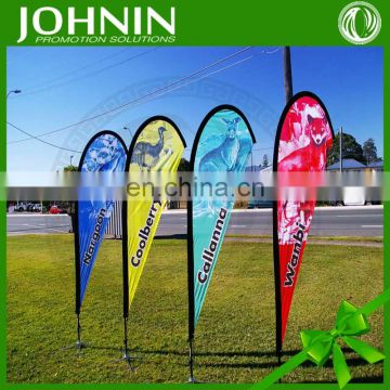 Fiberglass advertising outdoor cheap teardrop flag