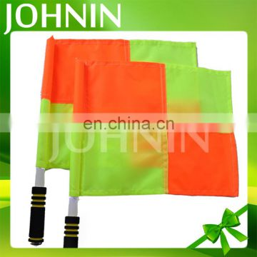 Professional Polyester Football Or Soccer Hand Referee Flag Or Checker Stick Flag