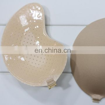 ES6610 Golden Wholesale Fashion Sexy Breathable Invisible Nude Silicone Free Bra for Women