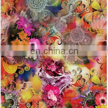 sublimation microfiber polyester soften textured digital satin printed fabric
