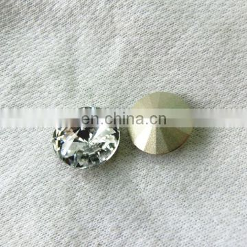 Round Point crystal fancy Transparent Clear stone Most Active