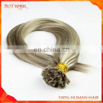 100% Remy Cuticle Tangle Free Italian Keratin Glue Human Flat Tip Hair I Tip Hair Blond 100 Keratin Tipped Human Hair Extension