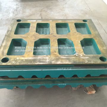 casting parts movable jaw plate of high manganese steel suit C160 metso nordberg jaw crusher