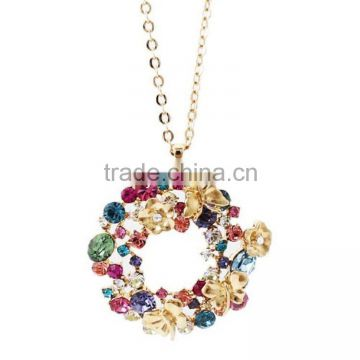 F.Y.L jewelry genuine diamond butterfly garden full of Korean version of the long-chain sweater chain new special four-color sel