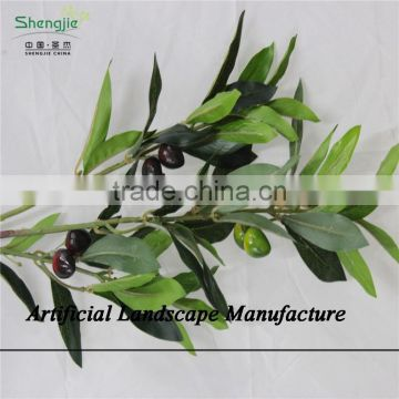 SJZJN 2574 High Quality Evergreen Decoration Artificial Hanging Leaves