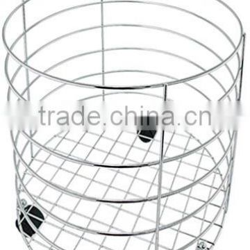 Hotel Towel Basket , Hotel accessories, stainless steel towel basket,dirty towel basket YZ4120C