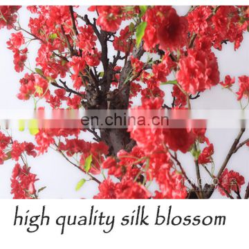 2015 newest wedding centerpiece red cherry blossom tree artificial tree