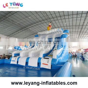 Water park sliding in amusement park / inflatable mini water theme park