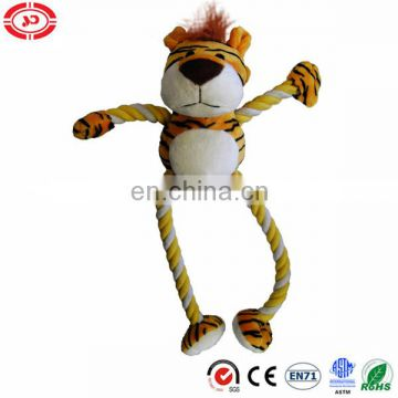 Tiger with long hand foot made in rope dog pet toy