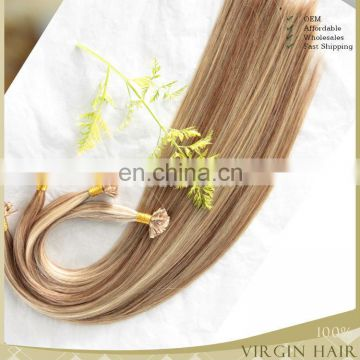 wholesale 8A grade 100% brazilian human Double drawn Nail Tip/U tip hair extension