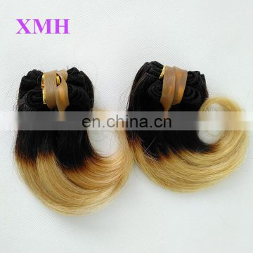 "Cheap Ombre hair Extensions two tone color weave 6""inch Short Hair Hairtyles"