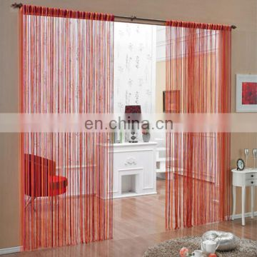 cheap multi color string curtain with rod procket