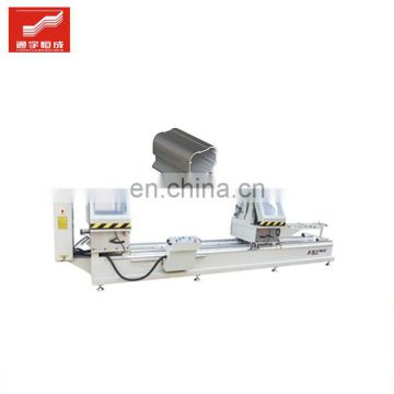 Double head aluminum sawing machine window door machinery maker upvc corner cleaning tenon drilling with a cheap price