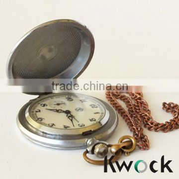 Bronze Hawk Eagle Vintage Quartz Pocket Watch Unique Necklace Pendant Clock music pocket watch