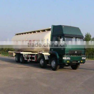 Chinasino truck bulk concrete truck, 35 cbm bulk concrete tank truck for sale, Howo 35000L cement tank truck for sale