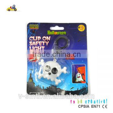 Hot Sale Halloween clip on safety lights, clip with flashing lights, High quality clip