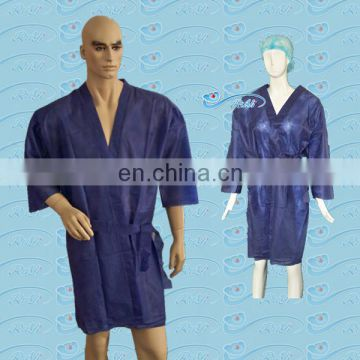 PP Nonwoven Kimono/spa Clothes with short sleeve
