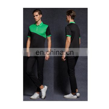 Hotsale combined t-shirt polyester quick-dry polo shirts with color matching