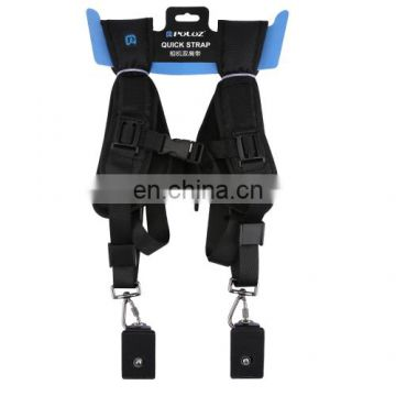 Best price PULUZ Quick Release Double Shoulder Harness Soft Pad Decompression Foam Shoulder Strap Belt for DSLR Digital Cameras