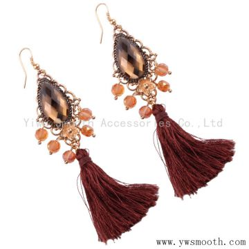 Wholesale Fashion Designs Rhinestone Beaded Tassel Earring Women Jewelry