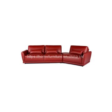 Quality on Stock Classic and Comfortable Red Leather Sofa