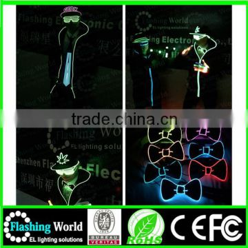 attractive fashion hot selling light up el flashing necktie