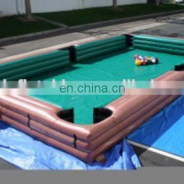 Brand new custom made billiard balls inflatable snooker table for wholesales