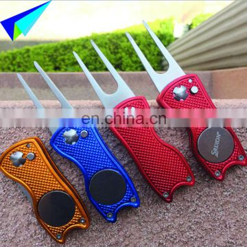 OEM/Custom Metal Automatic Rotatable and Foldable Golf Accessories Divot Repair Tool