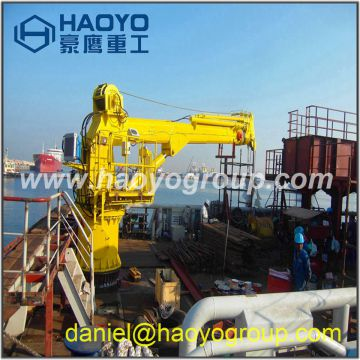 Customized ship crane 10m/12m/20m offshore marine crane for sale