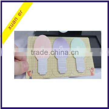 Hot selling cheap custom bulb shaped loose leaf sticky note made in china