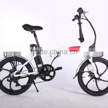 popular style electric bicycle aluminum alloy frame mini folding electric bike with integrated wheel