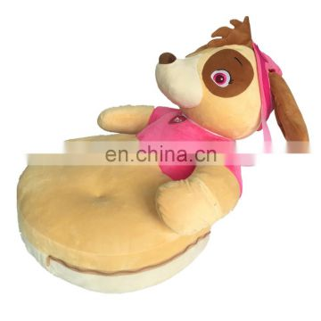 Diving pink dog cute plush sofa functional baby cushion gift toy